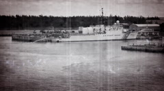 Old Vintage Footage Coast Guard Boat Stock Footage
