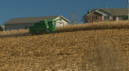 Michigan farmers harvesting their corn fields Stock Footage