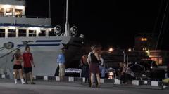 Night quay of Yalta. II. Stock Footage