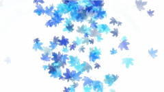 Blue leafs falling pattern symbol dream vision idea creativity. Stock Footage