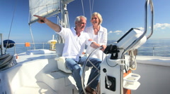 Retirement Outdoor Sailing Lifestyle Stock Footage