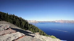 Crater Lake National Park in Oregon - stock footage