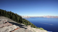 Crater Lake National Park in Oregon Stock Footage