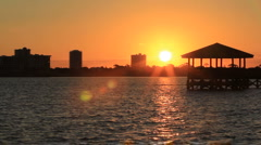 Sunrise, Halifax River, Ormond Beach, FL Stock Footage