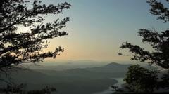 Sunrise On Blue Ridge Stock Footage
