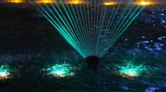 Light colour fountain. Stock Footage