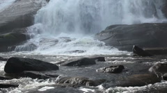 Water On Rock Stock Footage