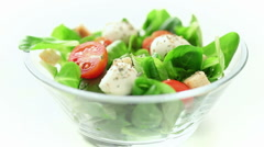 Italian salad Stock Footage
