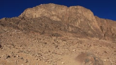 Sacred place - Moses Mountain. Sinai Peninsula. Egypt - stock footage