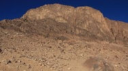 Stock Video Footage of Sacred place - Moses Mountain. Sinai Peninsula. Egypt