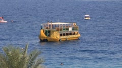 Yellow boat Stock Footage