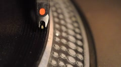 Closeup of needle on an lp record Stock Footage