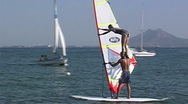 Stock Video Footage of Windsurfer
