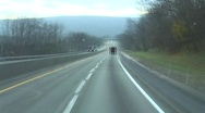 Extra High Speed On Highway Stock Footage