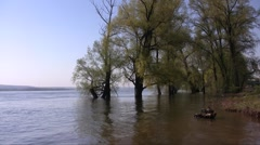 Spring river flood Stock Footage