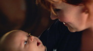 Woman with child slow motion Stock Footage