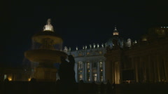 A couple walk past St Peters Stock Footage
