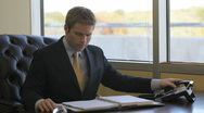 Businessman at work. Stock Footage