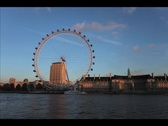 London Eye Time Lapse Stock Footage