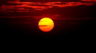 Morning Beautiful Sunrise Timelapse, Close-up Sun Rise Time Lapse, Amazing Day Stock Footage