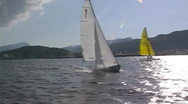 Stock Video Footage of Sailing boat in action