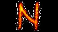 Fire letter N graffiti - stock footage