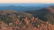 Autumn in blue ridge Stock Footage