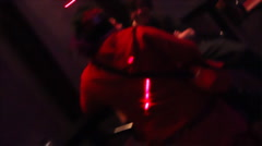 Night club - flying camera scenes - 2 - makes you dizzy - stock footage