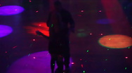 Night club scenes - silhouettes on a dance floor - 5 high angle couples argument Stock Footage