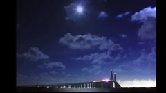 SUNSHINE SKYWAY BRIDGE - stock footage