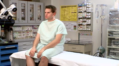waiting for medical tests results - stock footage