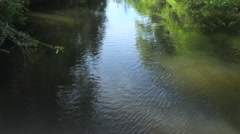 Calm river Stock Footage