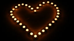 Candles burning for love  7 HD 1080p Stock Footage