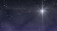 Stock Video Footage of Starry Night Bethlehem Star