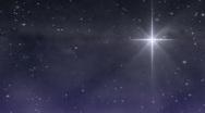 Starry Night Bethlehem Star Stock Footage