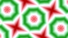 Christmas Kaleidoscope Loop No. 3 Stock Footage