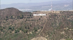 Helicopter Hollywood - stock footage