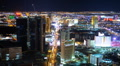 Las Vegas Skyline Timelapse Aerial View Cityscape Boulevard Strip Night Lights Footage