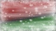 Christmas Dream Red Green Loop Stock Footage