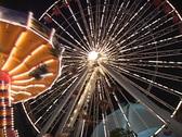 Amusement park at night 2 Stock Footage