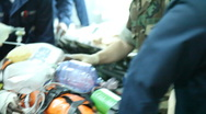 First Patient Arrives Aboard USNS Comfort enroute to Port au Prince Stock Footage