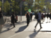 People walking in the city. Timelapse. SD. Stock Footage
