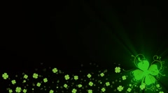 St Patricks Day - lower third  Stock Footage
