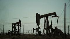 OilPumper Grey 03 - stock footage
