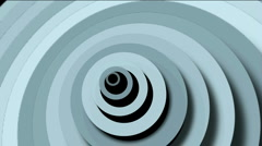 Abstract circle ring rounds 3d tunnel hole paper ripples cards wave space. Stock Footage