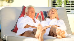 Stock Video Footage of Seniors Spa Relaxation