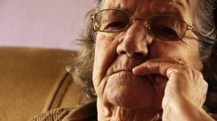 senior-old-woman-face-wrinkle-skin-close-up-2 HD - stock footage