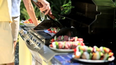 Healthy Barbeque Food Stock Footage
