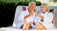 Mature Couple at Health Spa Stock Footage