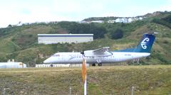Plane (ATR 72) takes off Stock Footage
